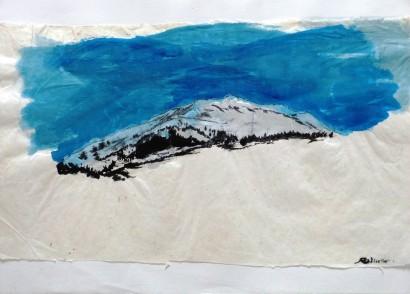 Montagne Pyrénées (Encres sur papier japon) 2012