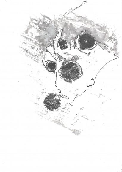 Présences - (Encre chine) papier photo - 2010